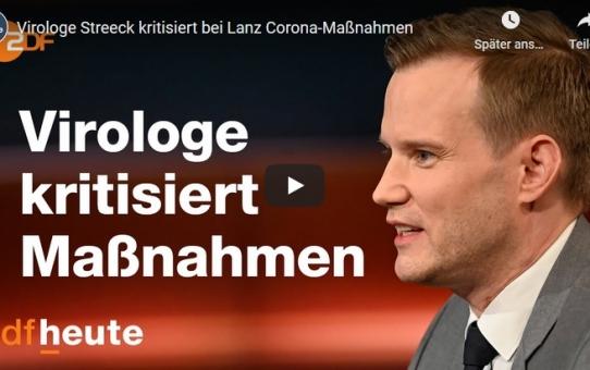 Virologe Streeck kritisiert bei Lanz Corona-Maßnahmen